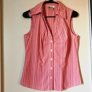 Loft red stripped top